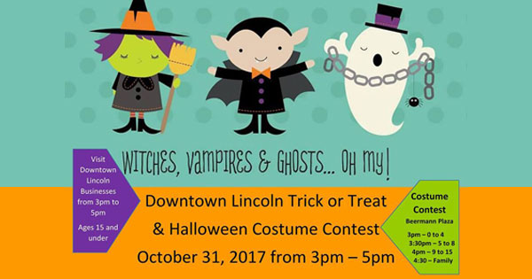 Downtown Lincoln Trick or Treat and Halloween Costume Contest