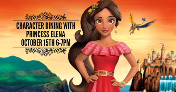 SacPizzaCo-Character dining with Elena